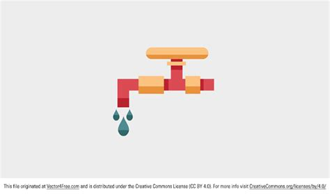 Water Faucet Vector by Free Water Tap Vector