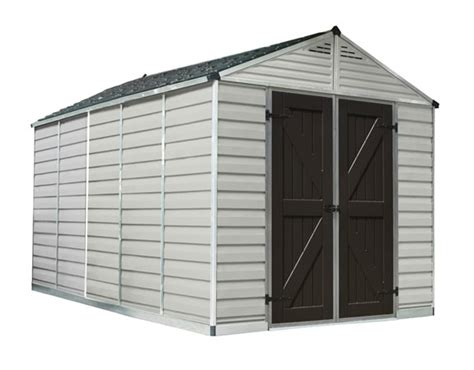 Polycarbonate Shed Roof by Palram 8x12 Skylight Storage Shed Kit Hg9812t