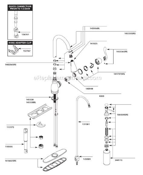Kitchen Faucet Hose Adapter moen ca87003srs parts list and diagram ereplacementparts com