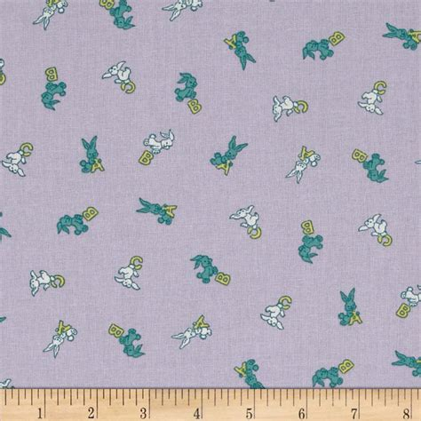 Everything But The Kitchen Sink Fabric Everything But The Kitchen Sink Bunnies Lavender Discount Designer Fabric Fabric