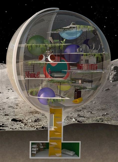 Floor Plans For One Level Homes Moon Villa Spherical Lunar Home For Low Gravity Living