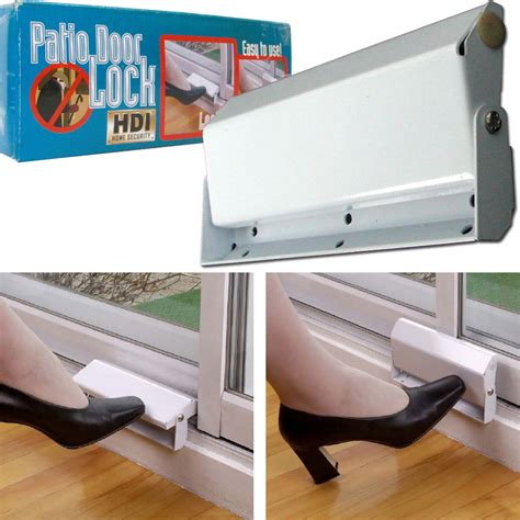 How To Open A Locked Patio Door by Sliding Patio Door Lock Home Security Ez Install Metal Ebay