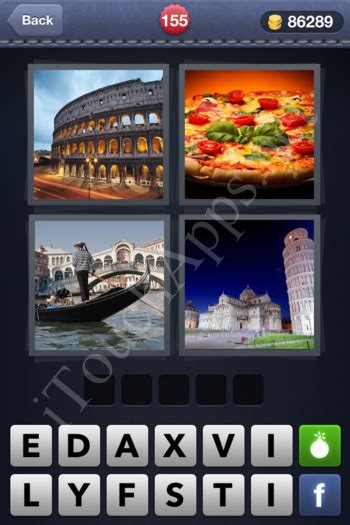 4 pics 1 word level 155 solution - 4 Pics 1 Word Pizza Boat