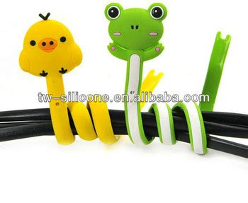Animal Cable Winder animal shape silicone headphone cord wrap earphone cable