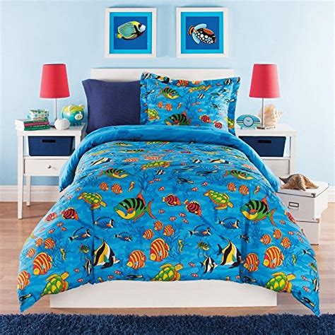 sea themed bedding 3 piece kids full queen comforter set aquarium themed