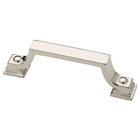 polished nickel cabinet pulls liberty 3 in 76mm polished nickel cabinet pull