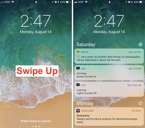how to find notifications in ios 11 s new lock screen and cover sheet macrumors