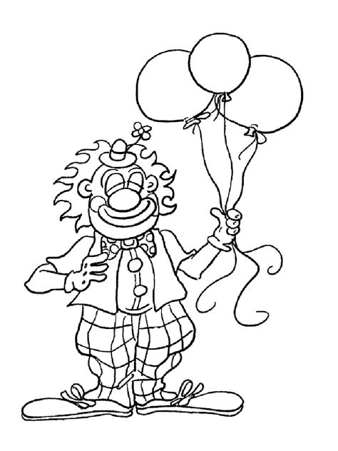 free printable clown coloring pages for kids