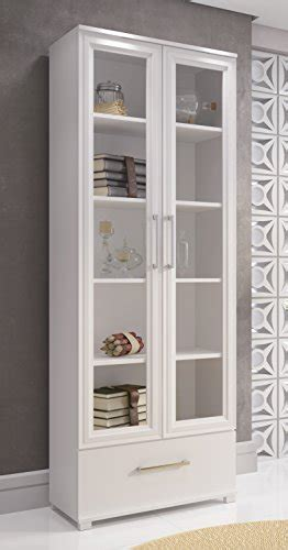 manhattan comfort serra 1 0 white 5 shelf bookcase compare price glass door corner cabinet on
