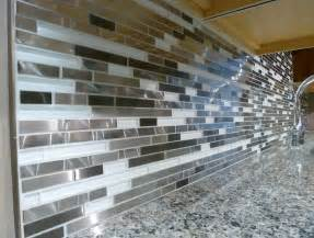 glass mosaic backsplash edge home design ideas