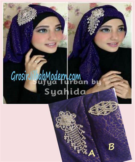 Instant Turban Topi Traveller Ungu turban pesta sufya exclusive by syahida ungu grosir jilbab modern jilbab cantik jilbab syari