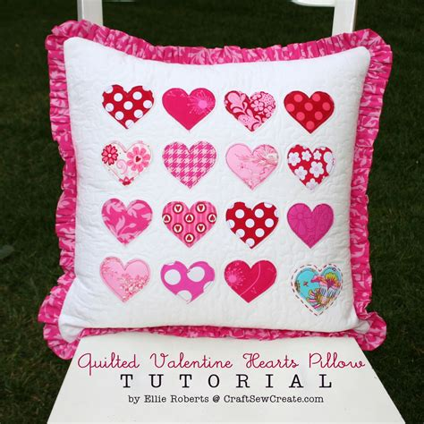 quilting pillow tutorial craft sew create quilted valentine hearts pillow tutorial