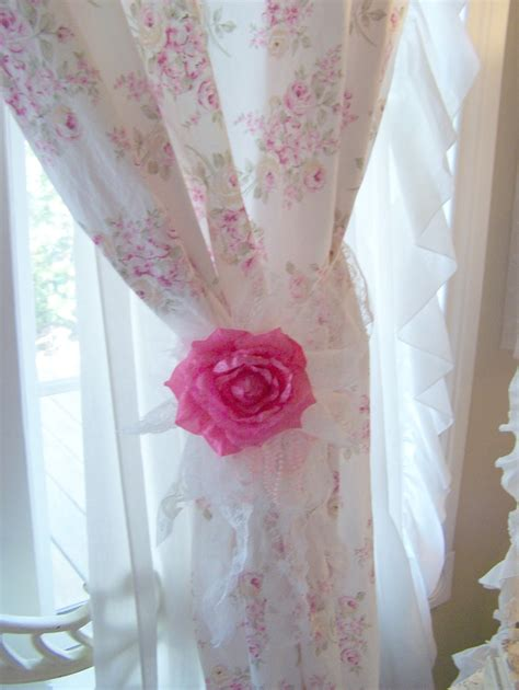 Olivia S Romantic Home Shabby Chic Rose Curtains