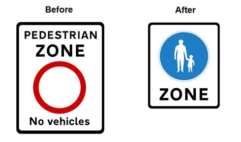 signage improvements pedestrian zones home zones and