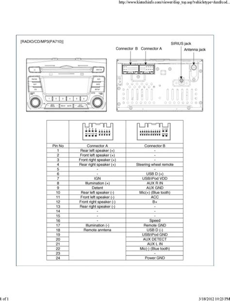 kia radio wire diagram for 2012 wiring diagrams wiring
