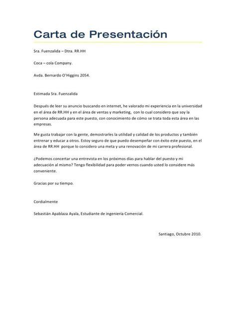 ejemplo de carta de presentacin para una empresa ejemplo carta presentaci 243 n blog de opcionis
