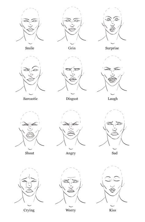 faces how to draw heads features expressions academy tip how to draw expressions to show emotion