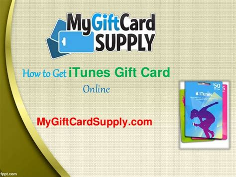 How To Get Itunes Gift Card - how to get itunes gift card online mygiftcardsupply