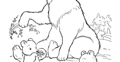 bear family coloring page nature themed baby shower