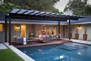 custom homes interiors contemporary patio san you thought of pool pergola pergolas steel