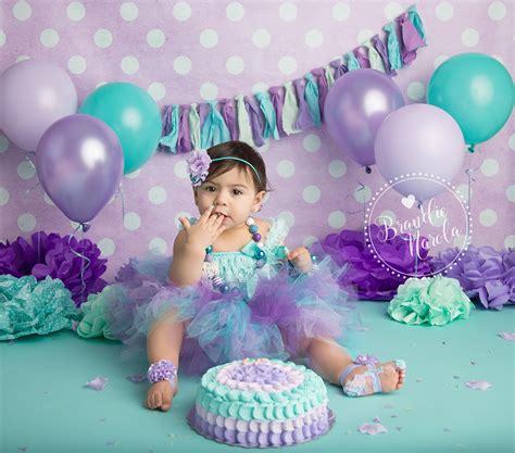 1st birthday themes girl pinterest cake smash purple and aqua cake smash girl cake smash