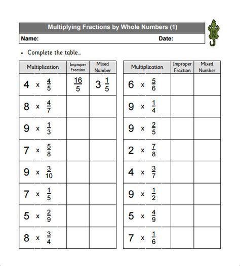 multiplying fractions worksheet multiplying fractions worksheet templates free