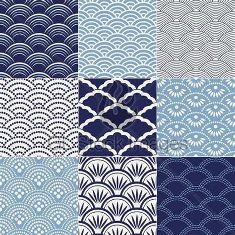 japanese ocean pattern japanese seamless quot ocean wave quot patterns stencil sheets