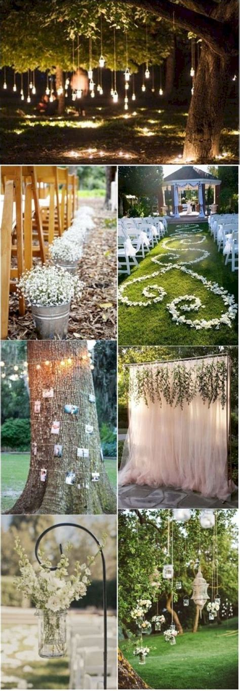 Wedding Aisle Decorations On A Budget by Outdoor Wedding Decor Ideas On A Budget 31 Vis Wed