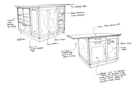 sketch drawing of a kitchen with island google search working sketches studio beekhuis