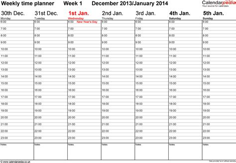 weekly calendar template 2014 excel weekly calendar 2014 uk free printable templates for excel