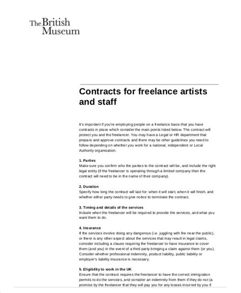 sample freelance contract agreement templates  ms