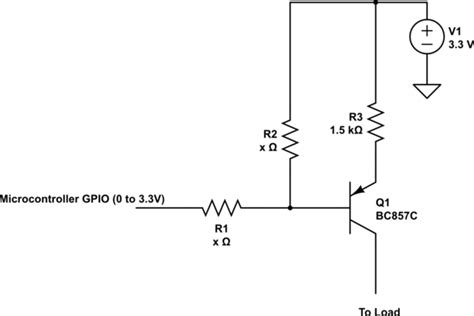 resistor transistor how to calculate base resistor of pnp transistor electrical engineering stack exchange