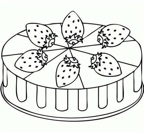 free coloring page of a cake get this free simple cake coloring pages for children af8vj
