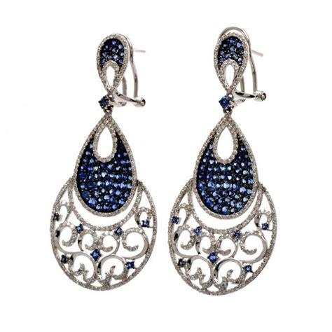 sapphire chandelier earrings sapphire gold chandelier earrings at 1stdibs