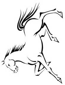 horse coloring page running horse