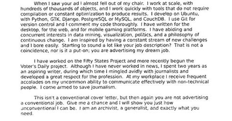 chris kick ass cover letter good for business
