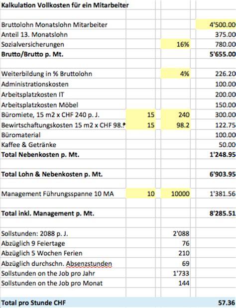 wieviel nebenkosten pro person wie viel kostet ein mitarbeiter wirklich run my accounts ag