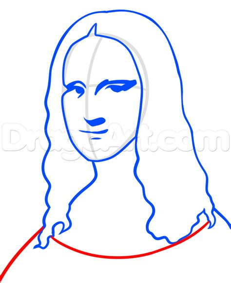 free draw how to draw mona easy step by step pop culture
