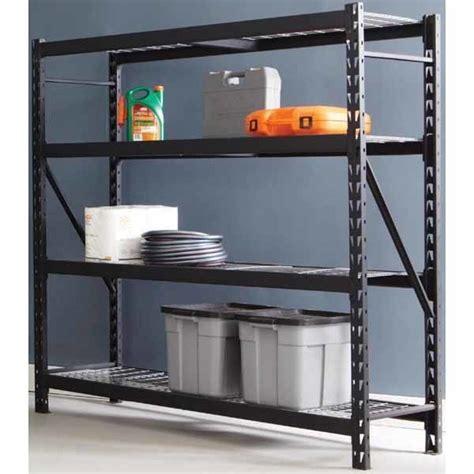 exclusive husky 174 4 tier heavy duty steel storage shelf