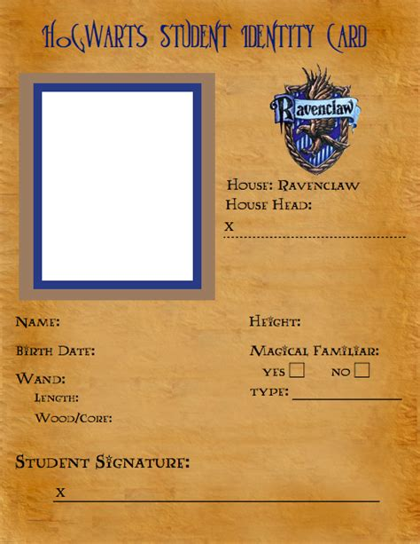 deviantart student id card template ravenclaw id template by latuacantante98 on deviantart
