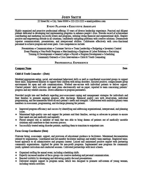 Event Planner Resume Template by Event Planner Resume Template Premium Resume Sles