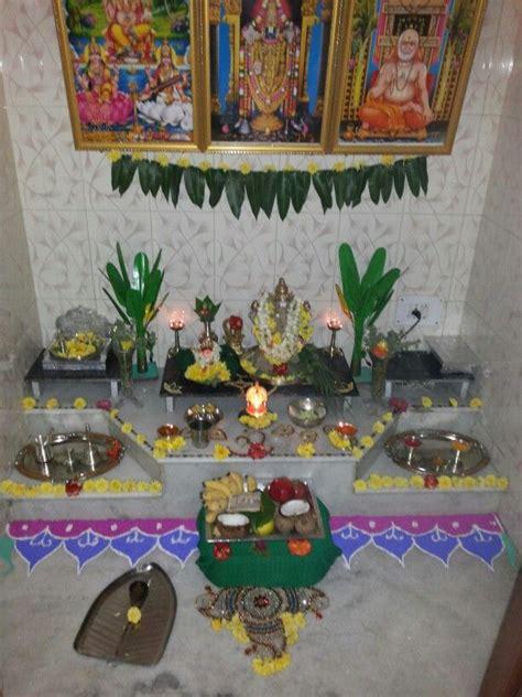 decoration of pooja room at home 142 best pooja setup images on pinterest prayer room