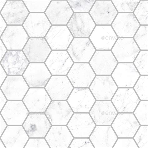 seamless small marble hexagon tiles by seemore studio