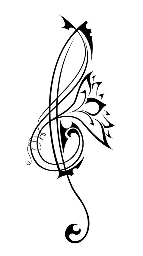 music and flower tattoo designs simson
