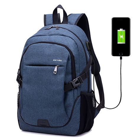 Backpack Laptop Bag Travel With Usb Port D8205w 17 3 Inch Olb1868 canvas laptop backpack casual daypack travel rucksack with usb charging port alex nld