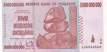 P Visa by Zimbabwe 5 Billion Dollar Banknote Zimbabwedollars Net