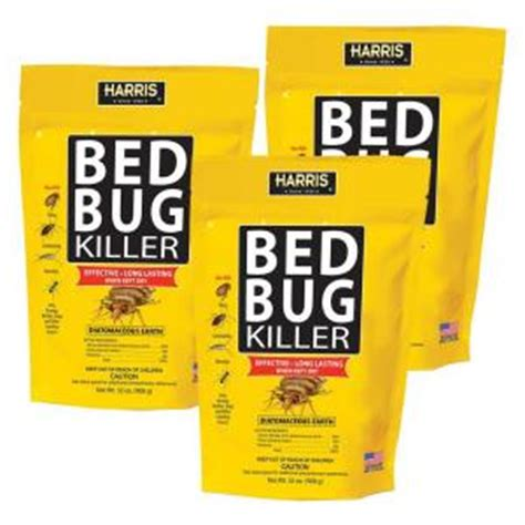 bed bug treatment home depot harris 32 oz diatomaceous earth bed bug killer 3 pack