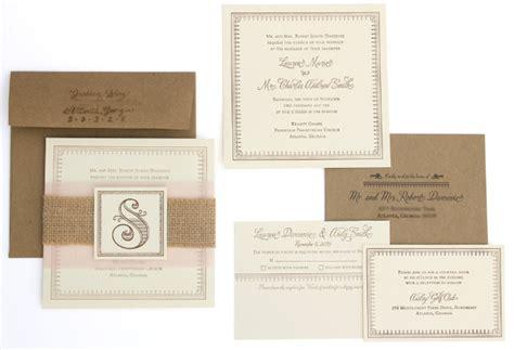wedding invitations burlap burlap wedding invitations and programs inspiration