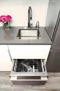 Small kitchen solutions one drawer dishwasher jennifer s small space