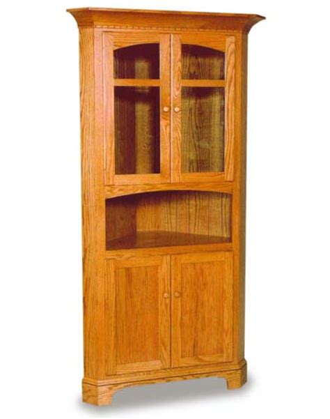 newport shaker corner hutch amish dining room furniture natural cherry wood cabinets quotes
